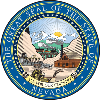 The Great Seal of the State of Nevada.
